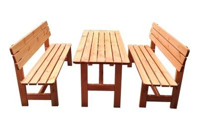 záhradný nábytok, drevený, pevný