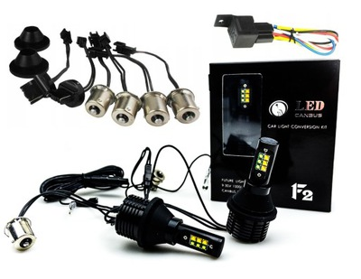 2 В 1 СВЕТ поворотники Светодиодные лампы DRL p21w PY21w w21w