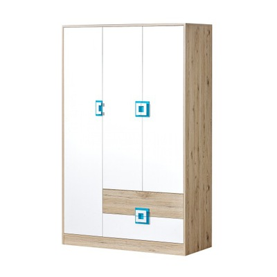 мебель НИКО NIC_03 шкаф 120 Дуб светлый / Белый