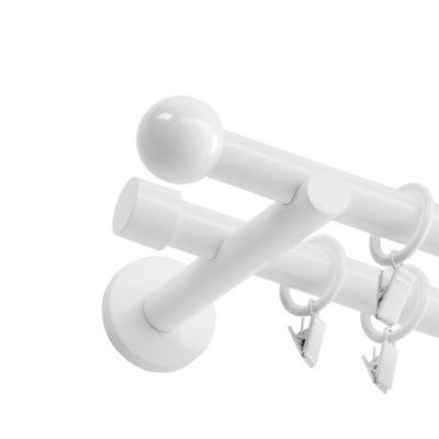 КАРНИЗ металлический Белый Двойной 19 200см разные