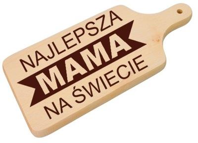 DREWNIANA DESKA 2 KROJENIA GRAWER DZIEŃ MATKI MAMY