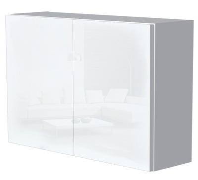 Тумба для ванны белая Белый блеск 80 см НА КЛИК