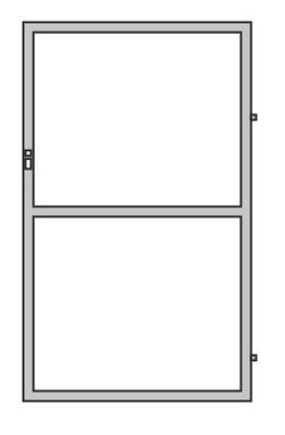brána je 90 cm POZINKOVANÁ + RAL panel rám OCT-SPLNENÉ