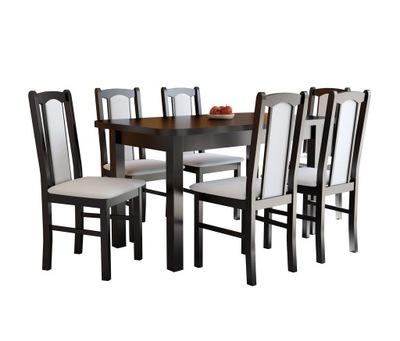 Твердый стол ВЕНЕРА 2L и 6 стульев BOSS 7