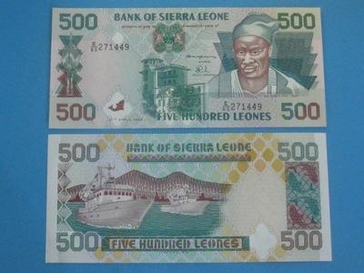 Сьерра-Леоне 500 Leones 1995 P-23, UNC Лодки