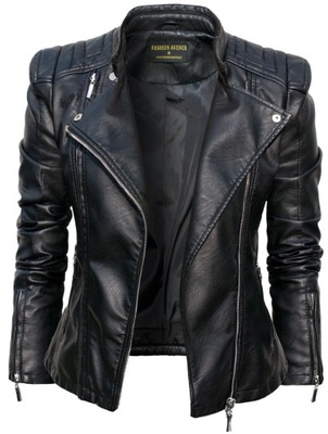 #100 FASHIONAVENUE skóra RAMONESKA moto BIKER M