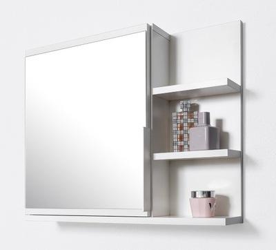 белая шкаф ? зеркалом , шкаф для ванны, полки