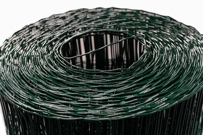 Zvárané pozinkované pletivo+PVC ziel 10 m, h0.6m; 100x50