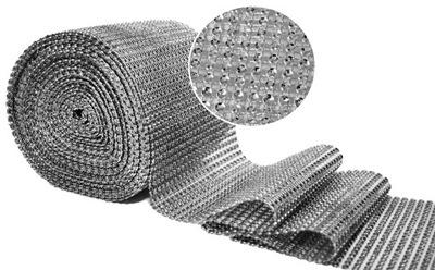 лента Декоративная стразы джет вуаль ленточка 12cm