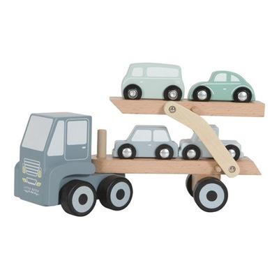 Malý holandský Ťahanie kamión s výťahom a 4 autkami