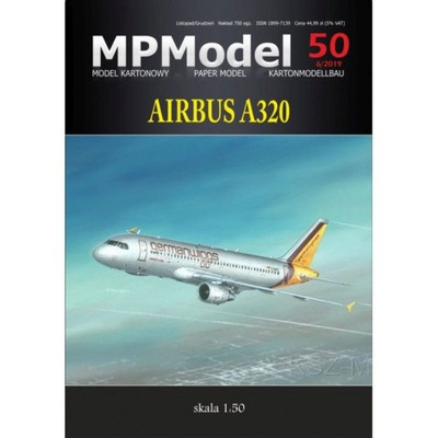 MPModel 50 - пассажирский Самолет Airbus A320 1 :50