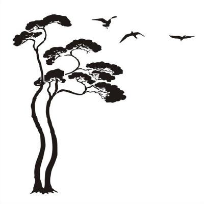 наклейки настенные пленка 105x170 см травы Дерево aim