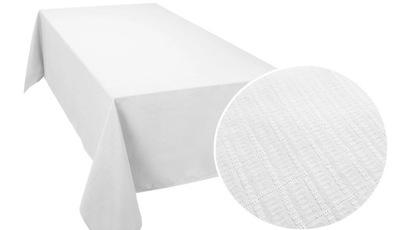 СКАТЕРТЬ пятноотталкивающий COTTON 140х200 крупный Белый