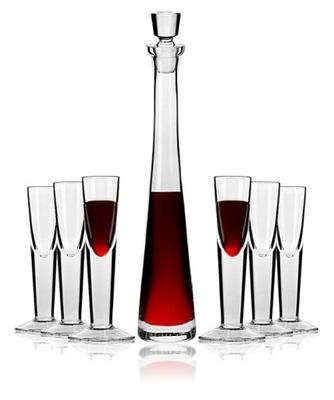 Nastaviť pre alkohol decanter KROSNA sklo Ríše