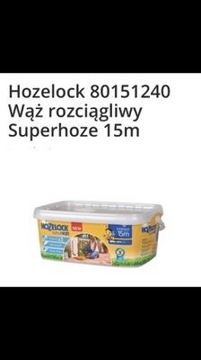Waż ogrodowy HOZELOCK 15m kompletny + zraszacz