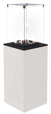 Plynový krb - Ohrievač vody, plynu, TERASA, sklo/biela - manuálne
