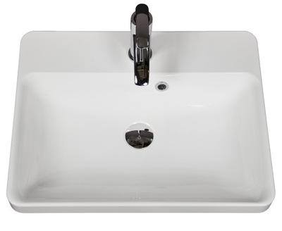 Umývadlo Obdĺžnikové umývadlo 55x43 cm MARY 550C biele