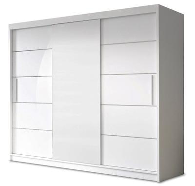 шкаф - КУПЕ ALBA II 250 см полки цвета
