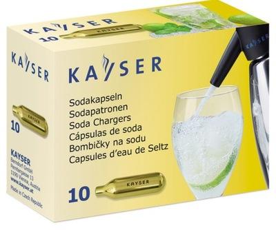 NABOJE DO WODY SODOWEJ CO2 KAYSER 10 SZT.