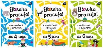 Книжка-РАСКРАСКА+наклейки -ГОЛОВКА РАБОТАЕТ 16к/ 4 ,5 ,6 -ЛЕТ