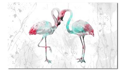 изображение ФЛАМИНГО 9 Серые - 120x70cm птицы фламинго