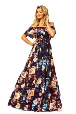 49d4ff3c Sukienka MAXI FALBANY XXL 44 - 7551446026 - oficjalne archiwum allegro