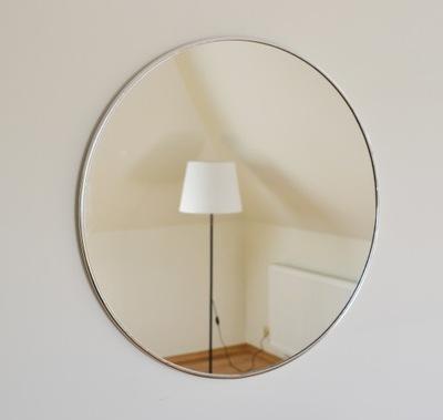 Okrúhle zrkadlo / kruh v striebornom ráme Optiwhite 100