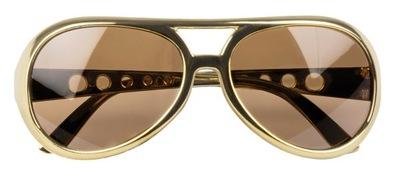 Okulary Elvis Rock`n Roll Złote 02522