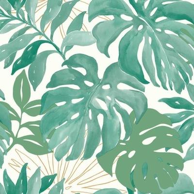 ОБОИ ЗЕЛЕНЫЕ листья ПАЛЬМЫ Современные ОБОИ