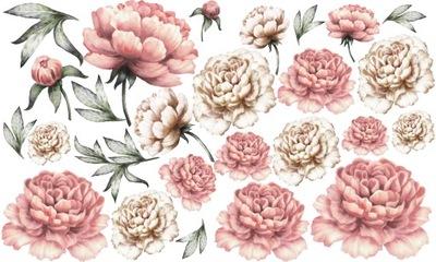 samolepky na stenu pivónia, kvety nálepky 96x160