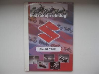 SUZUKI VOLUSIA VL800 POLSKA КНИЖКА ОБСЛУЖИВАНИЯ VL 800