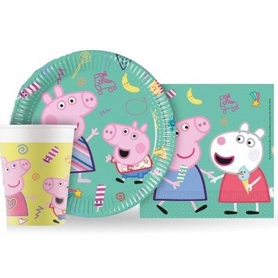 комплект тарелки стаканчики салфетки Peppa Pig
