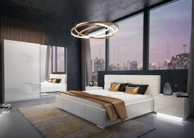 Szafa łóżko Stolik Sypialnia Maxima 183 Połysk
