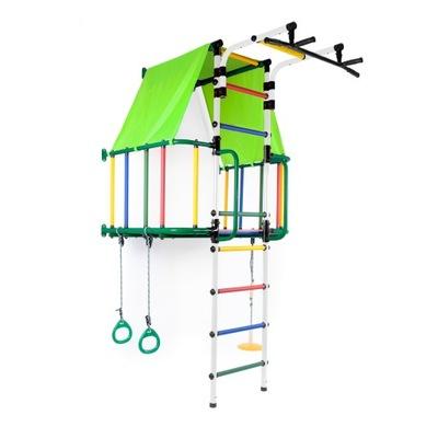 Лесенка центр + домик для детей зеленый