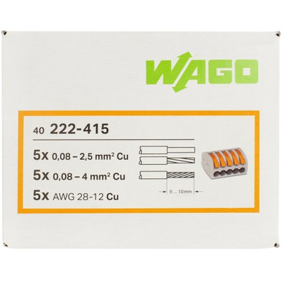 WAGO quick-release spojky rameno originál 5x4 40pcs