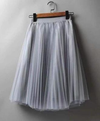 Spódnica Tiulowa Plisowana szara TUTU 7879854003