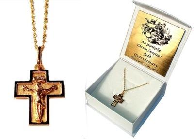 Kríž s reťazca Sviatosti Krstu, RYTEC ZLATO
