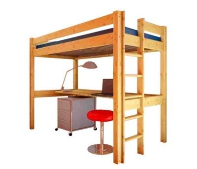 Postele poschodové postele pre deti s Desk-CARLO 190x80