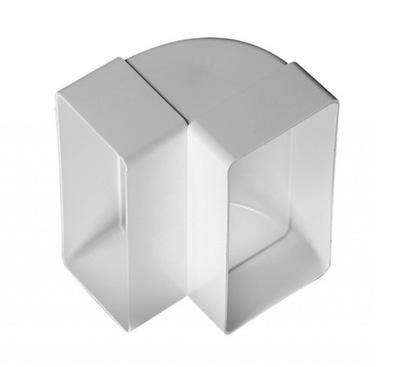 Колено вертикальные 75x150 для Вентиляции белое