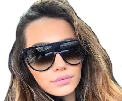 Slnečné okuliare Z111 dámske čierne ploché GLAM
