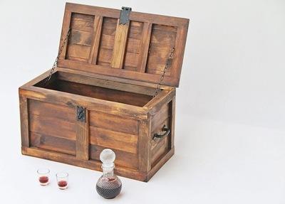 Нарядная коробка в стиле РЕТРО, состаренная, сундук
