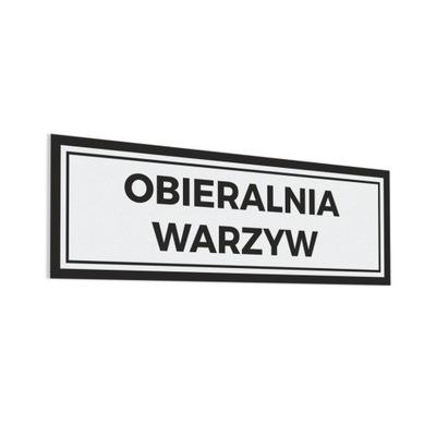 Naklejka - Obieralnia Warzyw 10x30