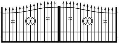 Ворота кованая  въездные ворота, калитка ВЕНЕРА ??? -Met