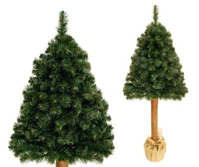 Vianočné stromčeky - Strom umelé BOROVICA PRÍRODNÁ 160 CM na pni