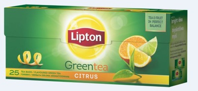??? Липтон GREEN CITRUS 25 пакетов зеленый