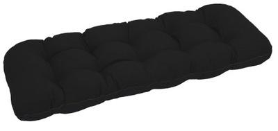 подушка на скамейку садовую качели 150х50 Черный