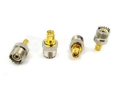 Adapter przejściówka SMA-M/UC-1 PTFE/GOLD RADIORA