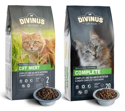 Divinus Cat MEAT / COMPLETE с витаминами 2 x 2кг
