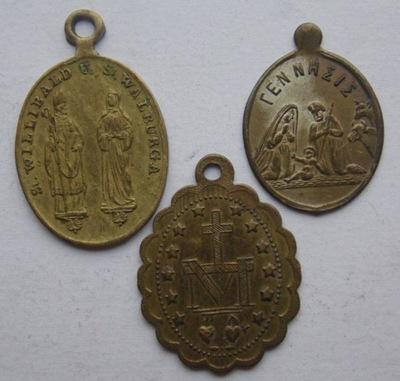 Niemcy TRZY MEDALIKI XIX/XX WIEK