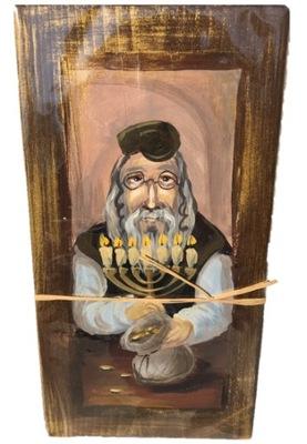 Изображение на монолитной древесине Еврей на счастье подарок